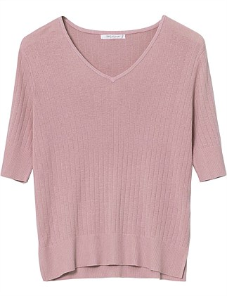 Soulis Pointelle Knit Top - Small