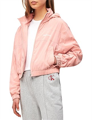 Cropped Nylon Windbreaker