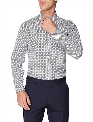 LS FORMAL CANE PRINT STAPLES NAVY