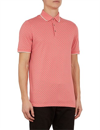 toff ss all over geo printed polo