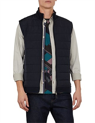 flie quilted nylon jersey gilet
