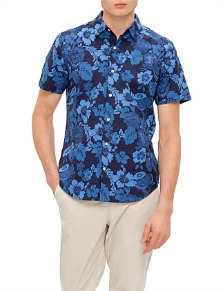 Tonal Hawaiian Shirt