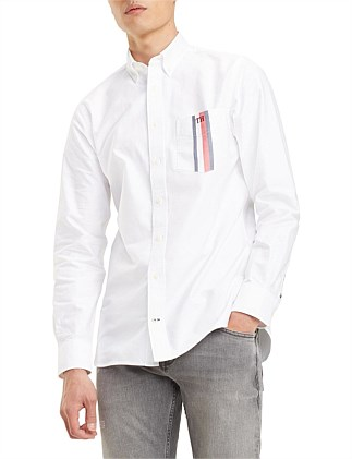 GLOBAL STRIPE POCKET SHIRT