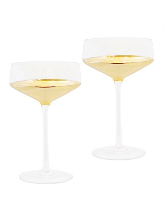 Estelle Crystal Coupe set of 2