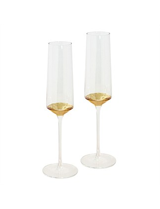Estelle Crystal Champagne Flute set of 2