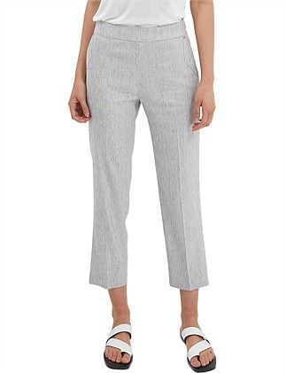 JANIE LINEN STRAIGHT PANT
