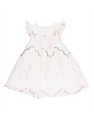 Sequin Embroidered Dress(3M-2Y)