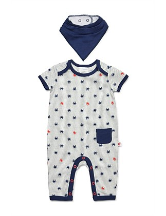 Short Sleeve Studsuit & Bib(NB-1Y)