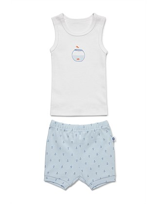Singlet And Short Set - Fish Bowl(NB-1Y)