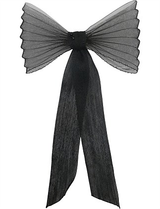 pleated crin back bow on clip