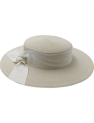 pp boater with grosgrain side twist