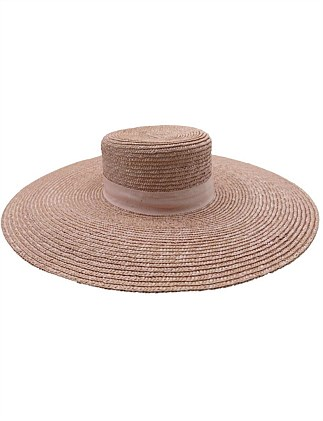 coconut ice large straw boater