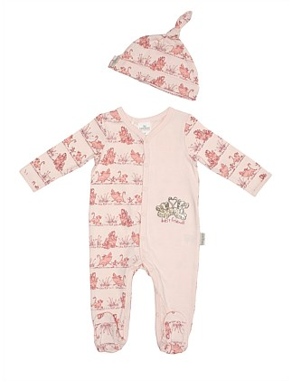 The Lion King Footed Romper & Beanie(NB-9M)