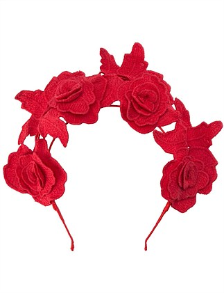 ariel lace halo headband