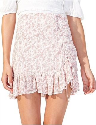 SUGAR PLUM RUCHED MINI SKIRT