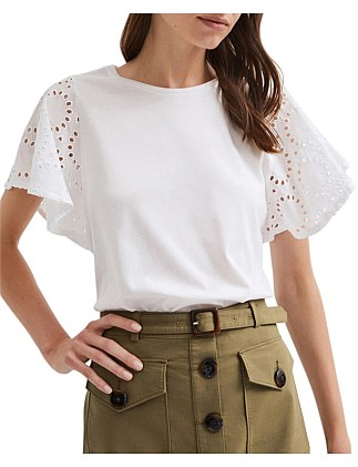 Cutwork Sleeve Tee