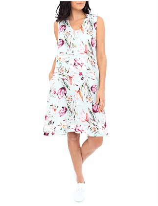 TIE BACK FLORAL DRESS