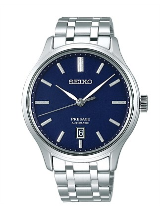Presage Auto Blue Frost Dial Dress Watch