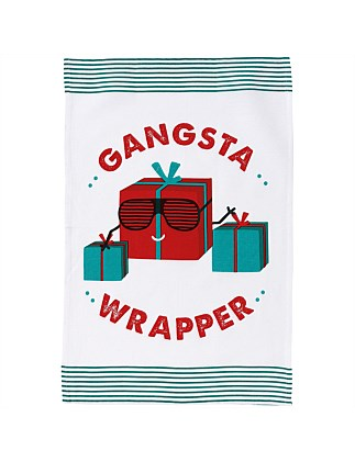 Christmas Novelty Gangsta Kitchen Towel
