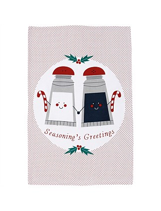 Christmas Novelty Seasonings Kitchen Towel