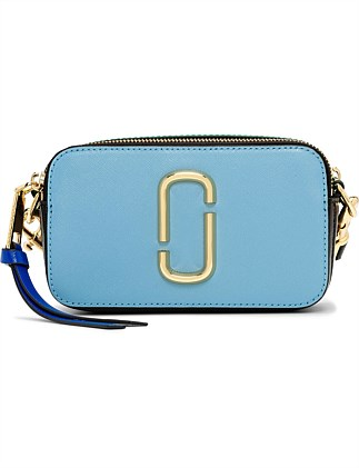 The Snapshot Small Camera Bag - Misty Blue Multi