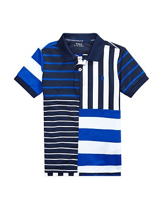 Striped Performance Lisle Polo (5-7 Years)
