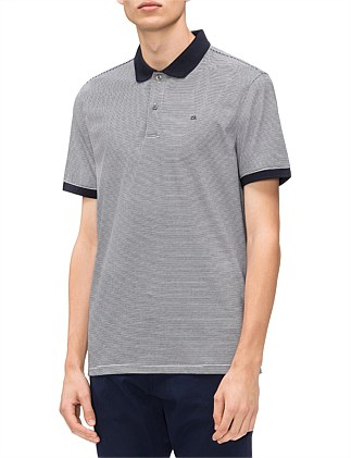 Liquid Touch Polo - FEEDER STRIPE INTERLOCK POLO