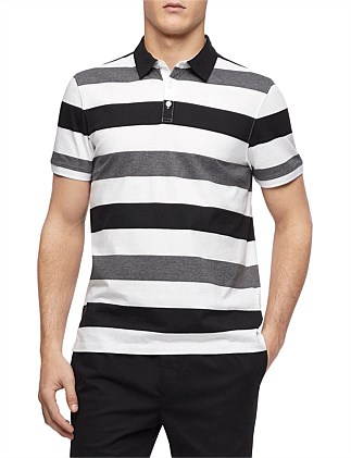 SS AUTO STRIPECONTRAST POLO