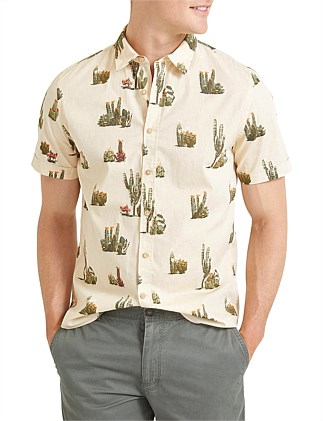 Cacti Short Sleeve Print Shirt