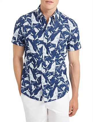 Whale Short Sleeve Print Shirt
