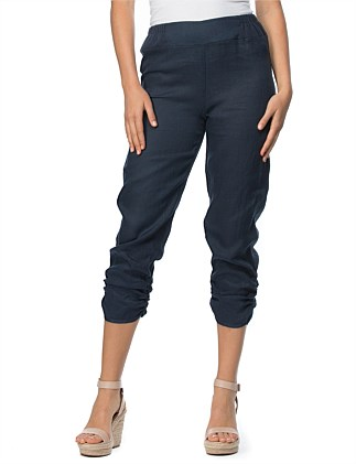 RUCHED HEM PULL ON PANT
