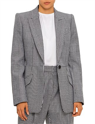 HOUNDSTOOTH  SINGLE BREASTED JACKET