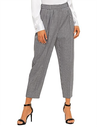 HOUNDSTOOTH HIGH WAISTED PANTS