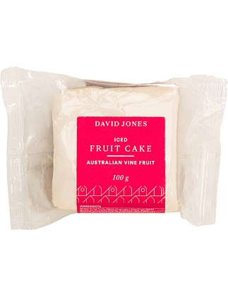 Christmas Fruit Cake Iced Slice 100G