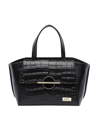 KAKADU GRIP HANDLE LEATHER BAG-BLK