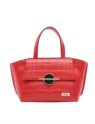 KAKADU GRIP HANDLE LEATHER BAG-RED