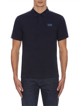 BRANDED POLO WITH CONTRAST SLV