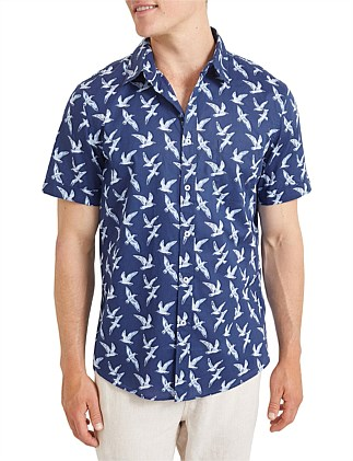Gull Short Sleeve Print Shirt