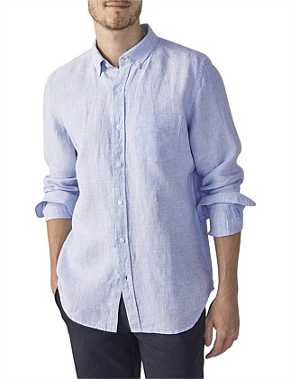 Prince Of Wales Check Linen Shirt