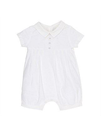 Boys Pleat Romper(NB-9M)