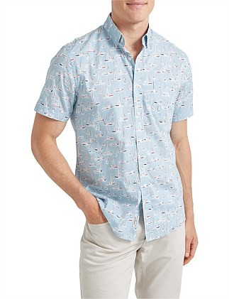 Vessel Short Sleeve Voile Shirt