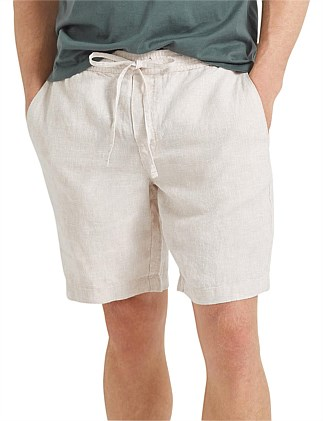 Tropic Drawstring Linen Short