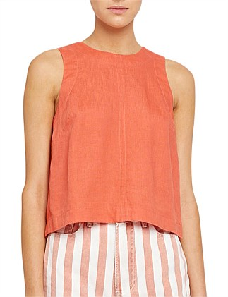 CASSIE CROP SHELL TOP