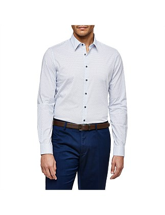 Marti Slim Stretch Fit Geoprint Shirt
