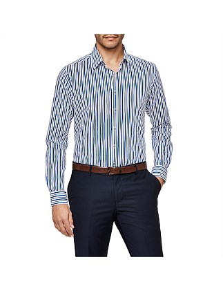 Atella Slim Stretch Fit Striped Shirt