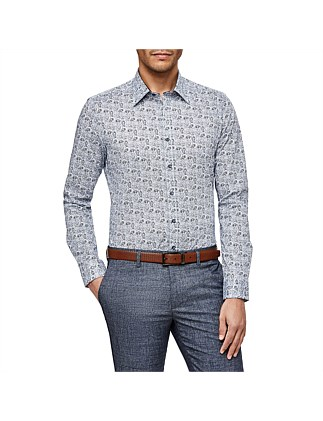 Cizzago Slim Stretch Fit Floral Shirt