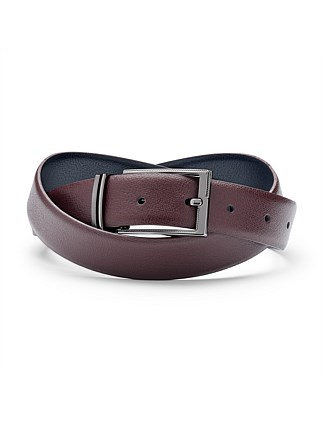 Greccio Reversible Leather Pin Buckle Belt