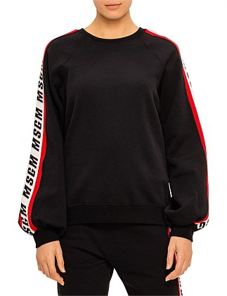 MSGM SIDE STRIPE LOGO SWEATSHIRT