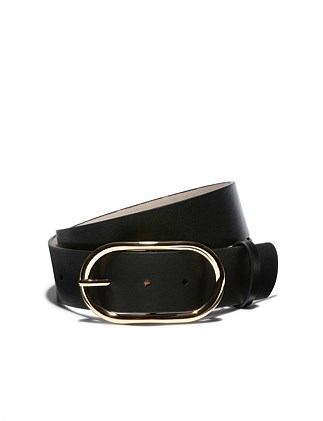 OVAL METAL BUCKLE BELT