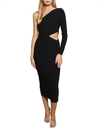 Elke Asymmetric Midi Dress